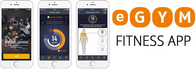 eGymm fitness app