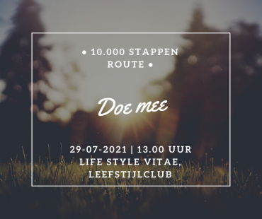 Uitnodiging 10.000 stappen route